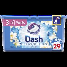 Lotus Lessive Fleur De  & Lys Pods Dash 3en1, X29 Soit 765g