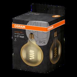 Ampoule led filament OSRAM globe 125mm 27W culot E27 blanc