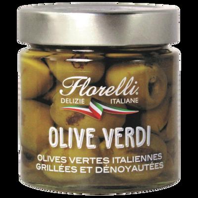 Olives vertes dénoyautées grillées FLORELLI, 190g
