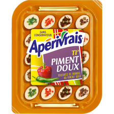 Fromage au lait pasteurisé goût saumon piment doux tomates pavot ciboulette et poivrons APERIVRAIS, 29,5% de MG, 100g
