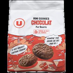 Mini cookies chocolat/pépites de chocolat pur beurre U, 120g