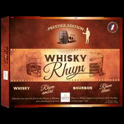 Boîte prestige whisky&rhum chocolats liqueur ABTEY, x20, 200g