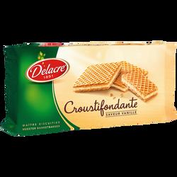 Gaufrettes croustifondantes à la vanille DELACRE, paquet de 150g