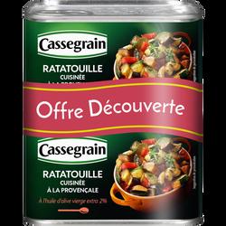 Ratatouille cuisinée provençal huile d'olive 2% CASSEGRAIN, 2 boîtes soit 760g