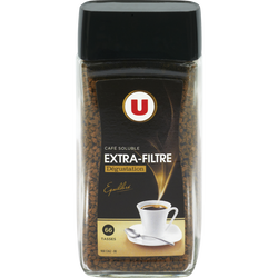 Café lyophilisé extra filtre U, paquet de 100g