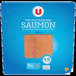 Saumon fumé d'Atlantique U, 4 à 6 petites tranches, 150g