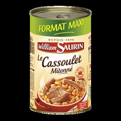 Cassoulet mitonné WILLIAM SAURIN, boîte 3/2 de 1260g