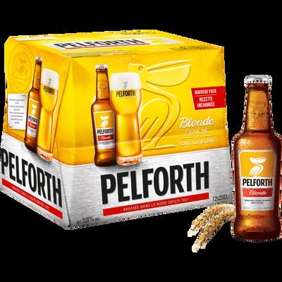 Bière blonde PELFORTH, 5,8°, pack de 12x25cl