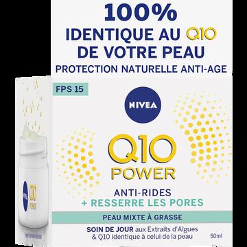 Nivea Soin De Jour Q10+ Light Peaux Mixtes Et Grasses Nivea Visage, 50ml