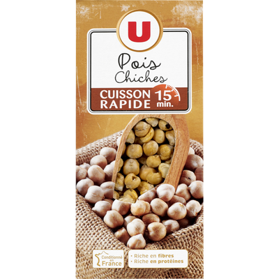 Pois chiches cuisson rapide 15 minutes U, 250g