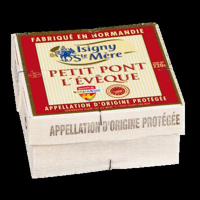 Petit Pont l'Eveque AOP lait pasteurisé ISIGNY SAINTE MERE, 22% de MG,220g