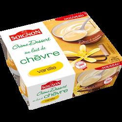 Crème dessert au lait de chèvre goût vanille SOIGNON, pack de 100g