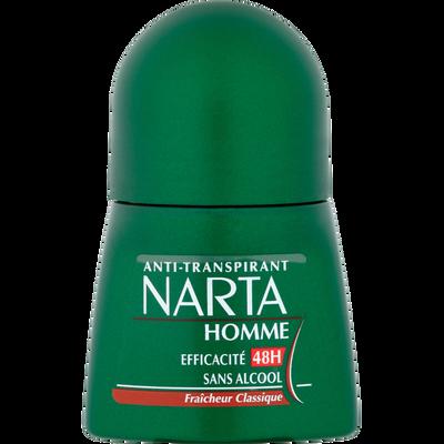 Déodorant anti transpirant pour homme NARTA, bille de 50ml