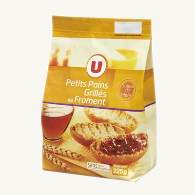 Petits pains grillés au froment U, paquet de 225g