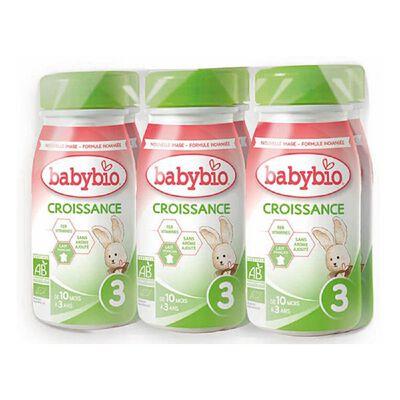 Croissance Liquide 6x25cl BABYBIO de 10 mois à 3 ans