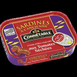 Sardines à l'huile d'olive et aux tomates séchées CONNÉTABLE, boite de115g