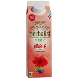 Boisson bio infusions hibiscus cassis sans sucres ajoutés HERBALIST