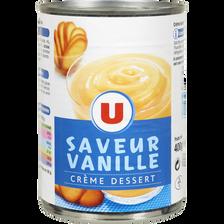 Crème dessert saveur vanille U, 400g