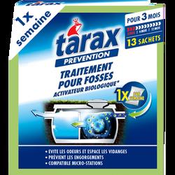 Traitement fosses sceptiques activateur biologique pour 3 mois TARAX,13 sachets en poudre