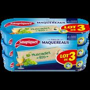 Saupiquet Filet Maquereaux Muscadet Biologique Saupiquet, 3x120g, 360g