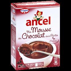 Préparation pour mousse au chocolat aux pépites ANCEL, 2 sachets, 190g