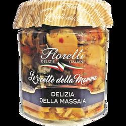 Mélange de légumes tomates séchées, artichauts, champignons et olives à l'Huile d'Olive FLORELLI, 200g