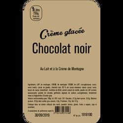 Crème glacée chocolat noir LA TURBINE A SAVEURS, bac 1 litre