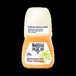 Déodorant extra doux fleur d'oranger LE PETIT MARSEILLAIS, bille de 50ml