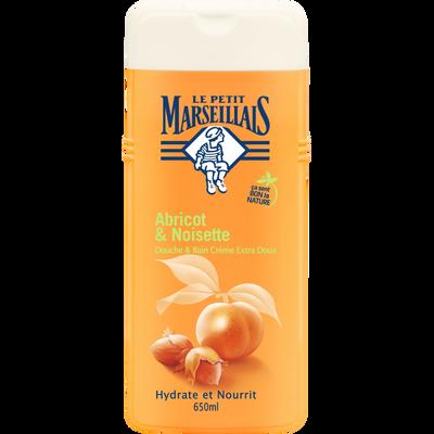 Gel douche & bain à l'abricot et noisette LE PETIT MARSEILLAIS, flaconde 650ml