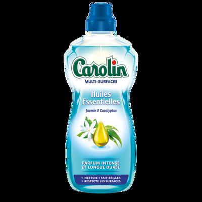 Nettoyant multi-surfaces aux huiles essentielles de jasmin & eucalyptus CAROLIN, flacon de 1l