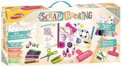 Coffret scrapbooking JOUSTRA-une maxi boîte pour s'initier au scrapbooking avec un carnet à décorer,du masking tape,des tampons,des gels pailletées,...-à partir de 5 ans