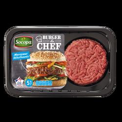 Steak haché burger du chef, 5% Mat.Gr, SOCOPA, France, 2 pièces, barquette, 220g