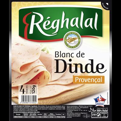 Blanc de dinde provençal 4 tranches halal REGHALAL, 120g
