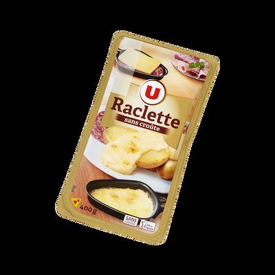 Raclette au lait pasteurisé tranchée sans croûte U, 28% de MG, 400g
