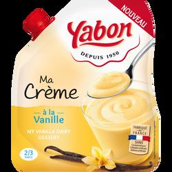 Crème dessert saveur vanille YABON, 350g