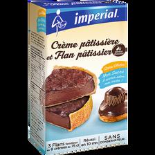 Crème et flan patissiers chocolat IMPERIAL, boîte de 300g