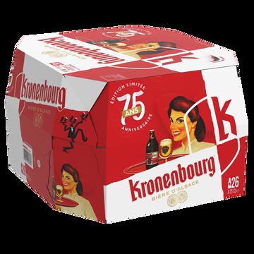 Kronenbourg Bière Blonde Kronenbourg, 4,2°, 26x25cl