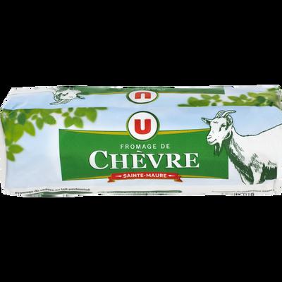 Fromage au lait de chèvre pasteurisé Sainte Maure U, 25% de MG, bûchede 300g