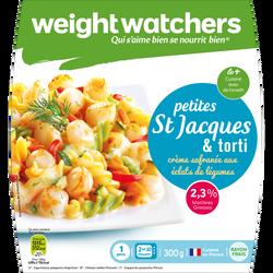 St Jacques à la crème safranée et torti WEIGHT WATCHERS, 300g