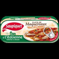 Filet de maquereaux recettes du monde à l'Italienne SAUPIQUET, boîte de 169g