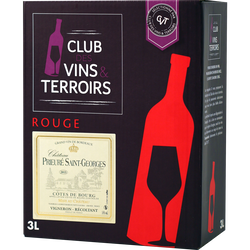 Vin rouge CVT Côtes de bourg AOP Château prieure Saint George fontaineà vin de 2,25l