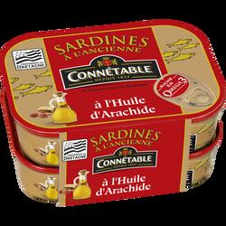 Sardines à l'huile d'arachide CONNETABLE, 2x230g