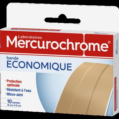 Pansements en bandes à découper MERCUROCHROME, bande x10, (10cmx6cm)