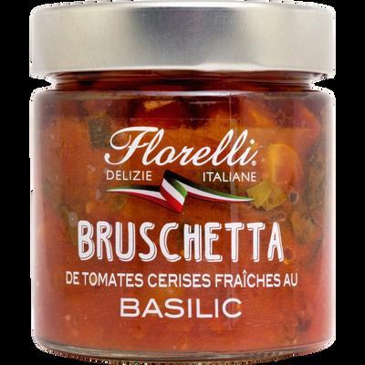 Préparation culinaire a base de tomates cerises fraîches et de basilic FLORELLI, 190g
