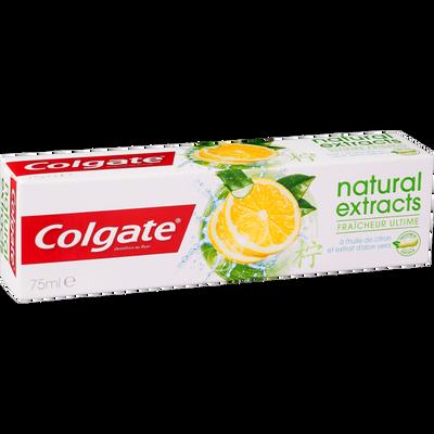 Dentifrice naturals fresh à l'huile de citron et extrait d'aloe véra COLGATE, tube de 75ml
