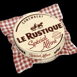 Camembert spécial affiné pasteurisé 20% de matière grasse LE RUSTIQUE,boîte de 260g