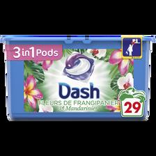 Dash Lessive Frangipanier Pods  3en1, X29 Soit 765g