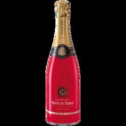 Champagne demi-sec FRANCOIS DUBOIS cuvée émotion rosé,  bouteille de 75cl