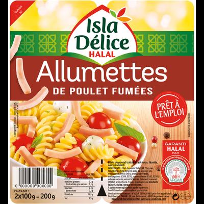 Allumettes de poulet fumé halal ISLA DELICE, 2x100g