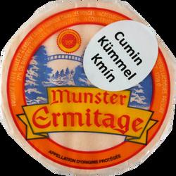 Petit munster AOP au lait pasteurisé cumin ERMITAGE, 27% de MG, 125g
